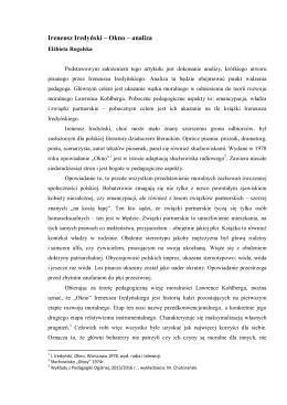 Ireneusz Iredyński – Okno – analiza
