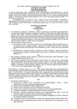Uchwała Nr …………………… / 2003 - BIP Urzędu Miasta Włocławek
