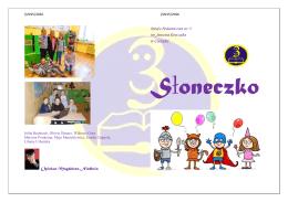 Słoneczko Nr I/2016 - Szkoła Podstawowa nr 3 im. Janusza