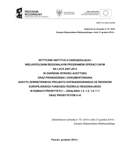 pobierz - Biuletyn Informacji Publicznej Województwa Wielkopolskiego
