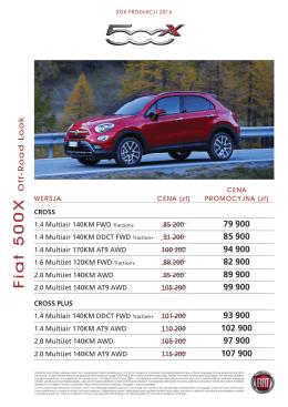 Cennik 2016 OFF-ROAD LOOK - Fiat