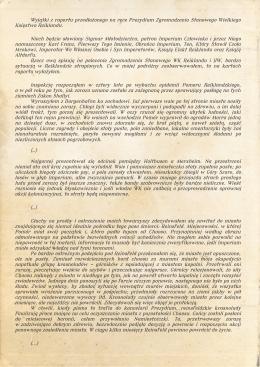 Wyjątki z raportu przedłożonego na ręce Prezydium