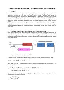 Filtr wejściowy (Input shaping filter) do sterowania napędem z