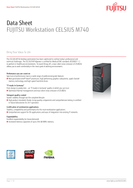 Data Sheet FUJITSU Workstation CELSIUS M740