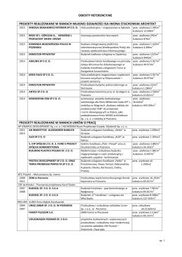 Pobierz listę obiektów referencyjnych (PDF 78 kB).