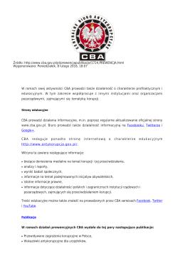Generuj PDF - Centralne Biuro Antykorupcyjne