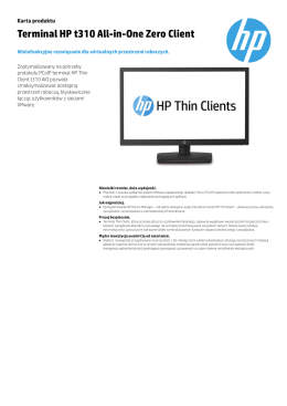 Terminal HP t310 All-in