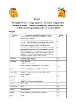 Uczniu! - spplewiska.pl