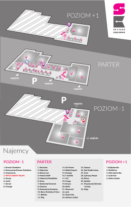 Plan centrum Plan C.H. Stara Kablownia