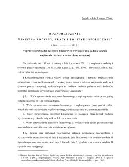 rozporz¹dzenie-sprawozdania- piecza - Ministerstwo Pracy i Polityki