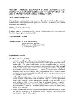 Program praktyk - OSW dla studentów po I r. II st.