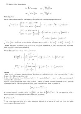 Wyznaczyc ca lki nieoznaczone (a) ∫ x2 sin 2x dx, (b) ∫ 3 ln/x 5x