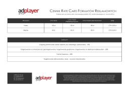 Cennik AdPlayer Group