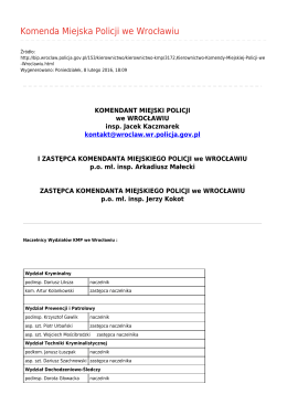 Generuj PDF - Komenda Miejska Policji we Wrocławiu