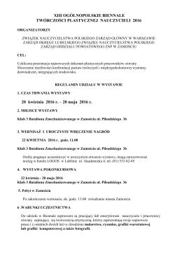 xi ogólnopolskie biennale twórczości plastycznej - ZNP