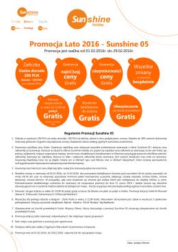 promocja 5 sunshine lato 2016 Klient.cdr