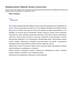 Generuj PDF z tej stronie - Nadodrzański Oddział Straży Granicznej