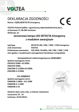 CE DETECTA 4-8-10-15 Emergency