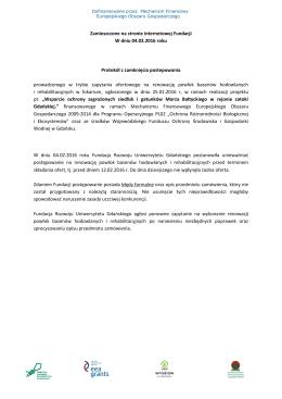 ogłoszenie o unieważnieniu - Fundacja Rozwoju Uniwersytetu
