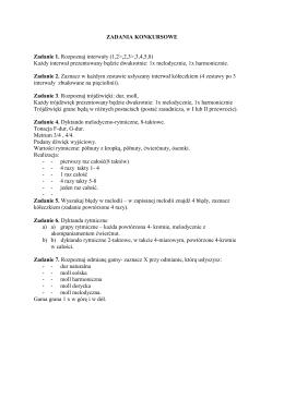 ZADANIA KONKURSOWE Zadanie 1. Rozpoznaj interwały (1,2>,2,3
