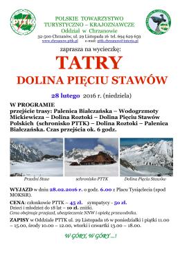 Tatry - Dolina Pięciu Stawów