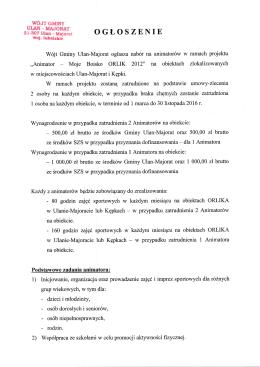 """moje boisko - orlik 2012"" na - Gmina Ulan"