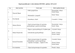 Zajęcia pozalekcyjne - Gimnazjum.Wegrow.pl