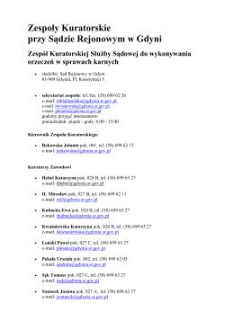 Zespoły Kuratorskie przy Sądzie Rejonowym w Gdyni Zespół