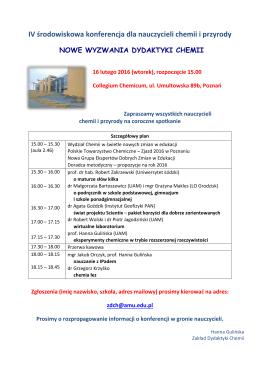IV środowiskowa konferencja dla nauczycieli