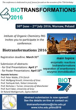 Biotransformations 2016