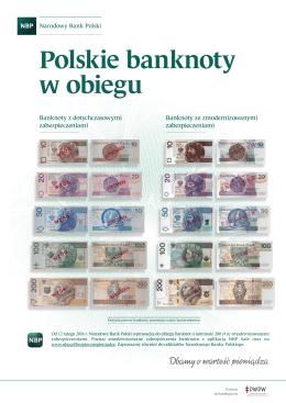 Banknoty z dotychczasowymi zabezpieczeniami Banknoty ze