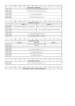 -- Plan dla FR rok 1 poniedziałek 10:00
