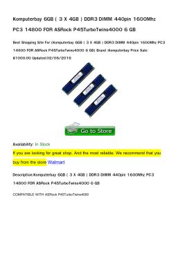 Komputerbay 6GB ( 3 X 4GB ) DDR3 DIMM 440pin 1600Mhz PC3