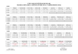 utku koleji eğitim kurumları ilkokul/ortaokul 2.dönem zümre sınav