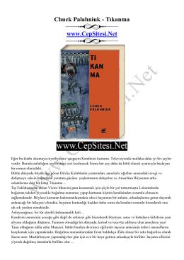 Chuck Palahniuk - Tıkanma www.CepSitesi.Net