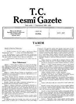esmı Gazete - Resmi Gazete
