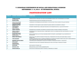 participation list - International Association of Social Science Research