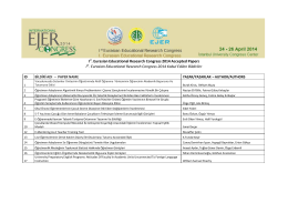 Ist. Eurasian Educational Research Congress 2014