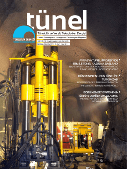 Tünel Dergisi 3 - Tünelcilik Derneği