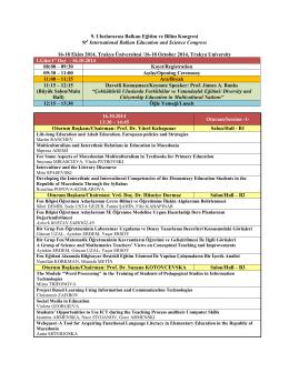 Program - BES 2014