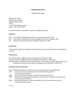 CURRICULUM VITAE - Department of History