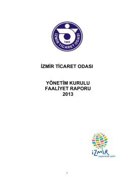 izmir ticaret odası yönetim kurulu faaliyet raporu 2013
