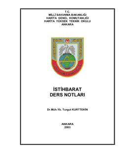 istihbarat ders notları - Milli Savunma Bakanlığı