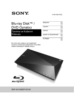 BDP-S5100 - Sony Europe