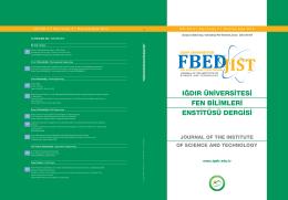 Haziran 2014 - Iğdır Üniversitesi