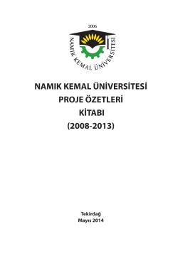 namık kemal üniversitesi proje özetleri kitabı - E