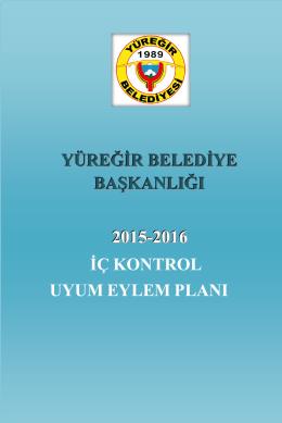 2015-2016 İç Kontrol Uyum Eylem Planı