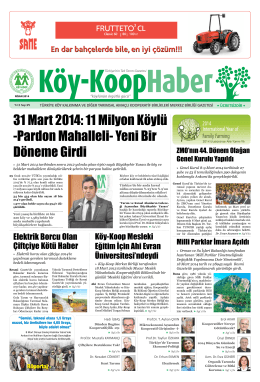 Köy-Koop Haber Gazetesi 29. Sayı - Köy