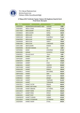 Yabancı Diller Koordinatö ancı Diller