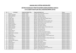 Liste İçin Tıklayınız - Ankara İl Milli Eğitim Müdürlüğü